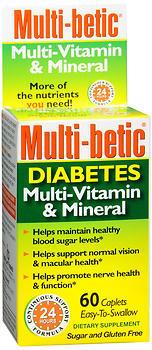 Multi-Betic Multi-Vitamin/Mineral/Antioxidant/Supplement, Tablets  - 60ea