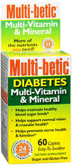 Multi-Betic Multi-Vitamin/Mineral/Antioxidant/Supplement, Tablets  - 60ea