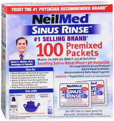 NeilMed Sinus Rinse Packets  -  100 EA