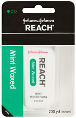 Reach Dental Floss, Waxed, Mint  - 200yd