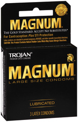 Trojan Magnum Condoms Lubricated - 3 Each