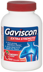 Gaviscon Antacid, Extra Strength, Cherry, Chewable Tablets  - 100ea