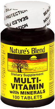 Nature's Blend Multi-Vitamin With Minerals Tablets - 100 TB