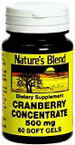 Nature's Blend Cranberry Concentrate 500 mg Soft Gels - 60 CP