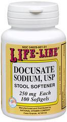 Life-Line Docusate Sodium Soft Gels - 100 CP