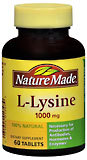 Nature Made L-Lysine 1000 mg Tablets - 60 Tablets