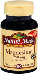 Nature Made Magnesium Tablets - 100 Tablets