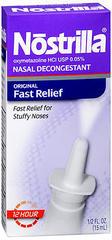 Nostrilla Nasal Decongestant,12 Hour  - 0.5oz