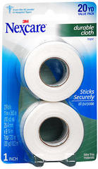 3M Nexcare Durable Cloth First Aid Tape 1 Inch X 10 Yards 2-Pack - 20 YD
