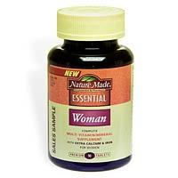 Nature Made Woman Multi-Vitamin/Mineral Supplement  - 90 Tablets