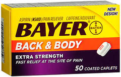 Bayer Back & Body Pain, Extra Strength, Coated Caplets  - 50ea