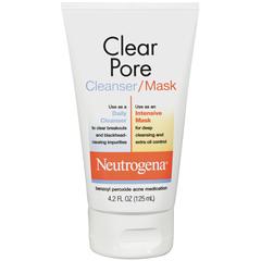 Neutrogena Clear Pore Cleanser/Mask - 4.2 Ounces