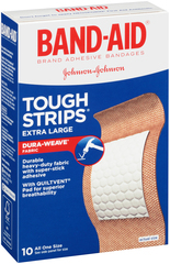 Band-Aid Adhesive Bandages, Extra Tough-Strips, 1-3/4-Inch  - 10ea