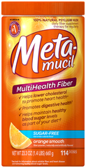Metamucil Multihealth Fiber Sugar Free Orange Smooth - 114 Doses