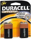 Duracell 9V Alkaline Batteries 2-Pack - 2 EA