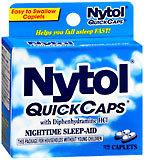 Nytol Nighttime Sleep-Aid with Diphenhydramine HCI, Caplets  - 32ea