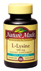Nature Made L-LYSINE   500 mg - 100 Tablets