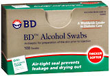 B-D Alcohol Swabs, Individually Foil Wrapped  - 100ea