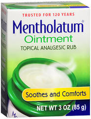 Mentholatum Decongestant Ointment, for Colds & Chapped Skin  - 3oz