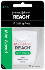 Reach Dental Floss, Waxed, Mint  - 55yd