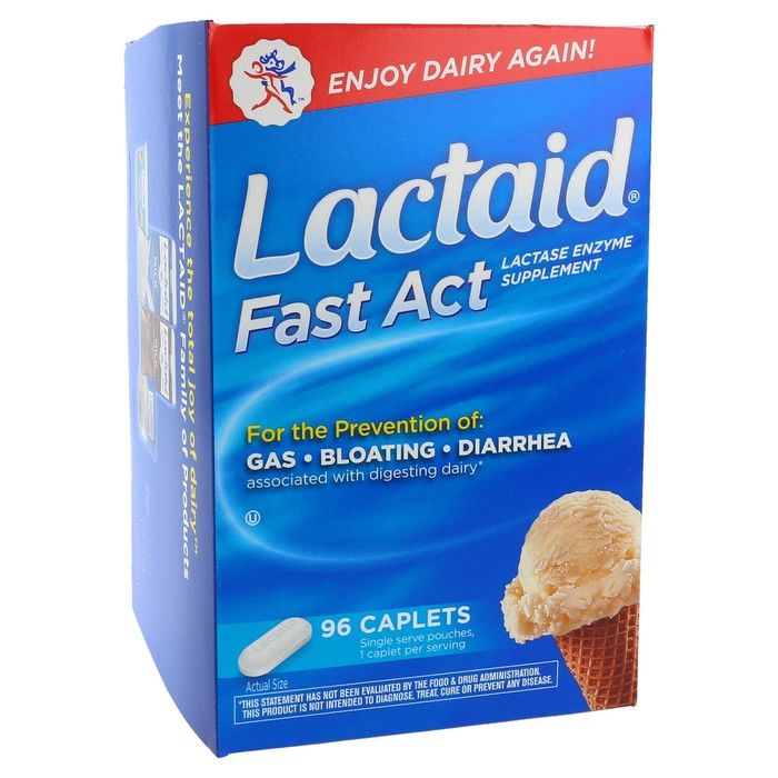 Lactaid Fast Act Supplement - 96 Caplets