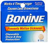 Bonine Tablets - 8 Tablets