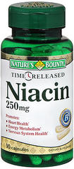 Nature's Bounty Niacin 250 mg Capsules Time Release - 90 Caps