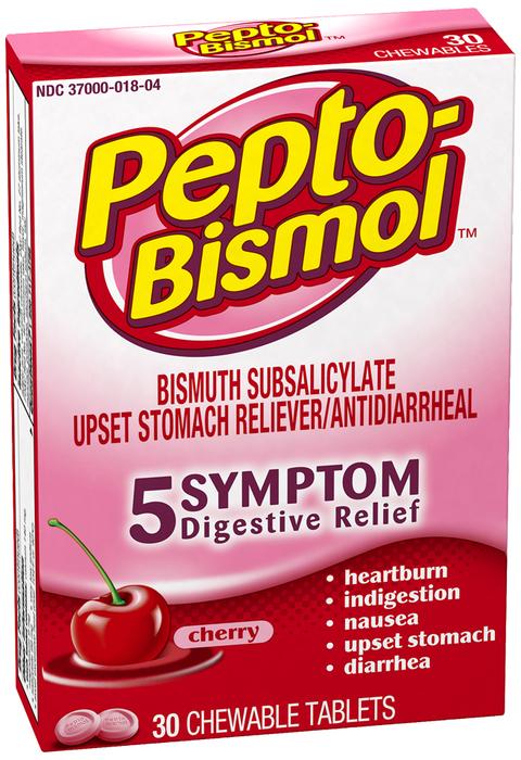 Pepto-Bismol Chewable Tablets, Cherry  - 30ea