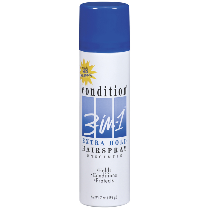 Condition 3-in-1 Hairspray with Sunscreen, Extra Hold, Unscented  - 7oz