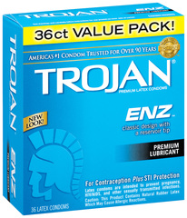 Trojan-Enz Condoms Lubricated Latex - 36 Each