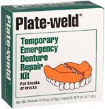 Plate-Weld Temporary Emergency Denture Repair Kit for Breaks or Cracks  - 1ea