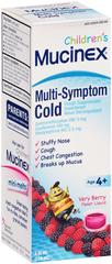 Mucinex Children's Multi-Symptom Cold Liquid Very Berry Flavor - 4 OZ