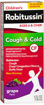 Robitussin Children's Cough & Cold CF Liquid Grape Flavor - 4 OZ