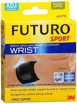 FUTURO Sport Wrap Around Wrist Support Adjust to Fit Black - 1 EA