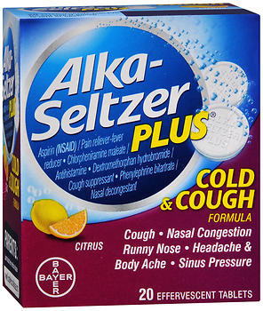 Alka-Seltzer Plus Cold & Cough Formula Effervescent Tablets Citrus - 20 EA