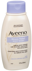 AVEENO Active Naturals Stress Relief Body Wash Lavender, Chamomile and Ylang-Ylang Scent - 12 OZ