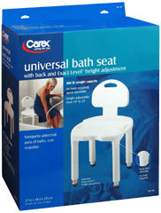 Carex Universal Bath Seat With Back B671-00 - 1 EA