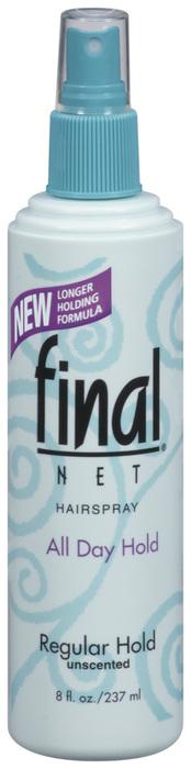 Final Net Hairspray Non-Aerosol Regular Hold Unscented - 8 OZ