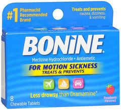 Bonine Antiemetic Tablets - 8 TAB
