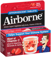 Airborne Effervescent Tablets Very Berry - 10 TAB