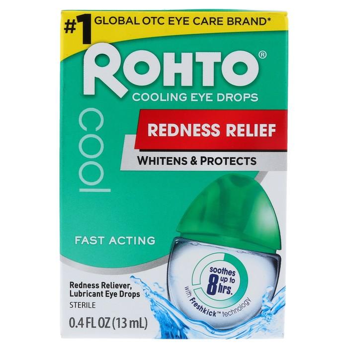 Rohto Cool Redness Relief Eye Drops - 0.43 OZ