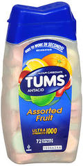 TUMS Ultra Strength 1000 Chewable Tablets Assorted Fruit - 72 TAB