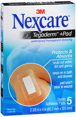 Nexcare Tegaderm + Pad Waterproof Transparent Dressing - 5 EA