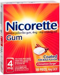 Nicorette Gum 4 mg Cinnamon Surge - 100 EA