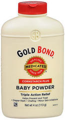 Gold Bond Medicated Baby Powder Cornstarch Plus - 4 OZ