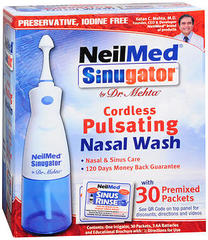 NeilMed Sinugator Cordless Pulsating Nasal Wash - 8 OZ