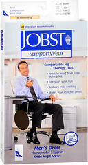 JOBST SupportWear Socks Men's Dress Knee High 8-15mmHg Brown Large - 1 EA