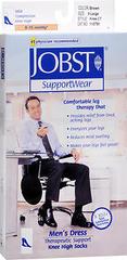 JOBST SupportWear Socks Men's Dress Knee High 8-15mmHg Brown X-Large - 1 EA