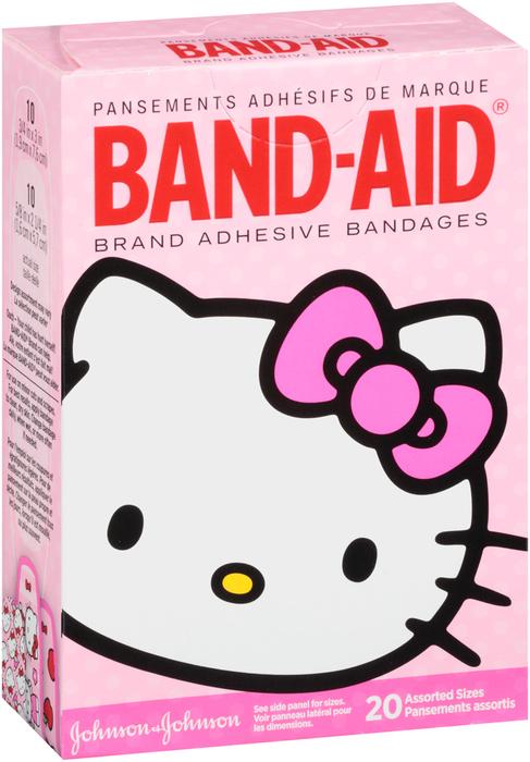 BAND-AID Bandages Hello Kitty Assorted Sizes - 20 EA