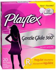 Playtex Gentle Glide 360 Degrees Plastic Applicator Tampons Regular Fresh Scent - 20 EA